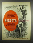 1967 Beretta Firearms Ad - Old-World Quality