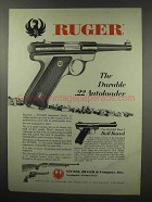 1967 Ruger Standard Model .22 Pistol Ad - Durable