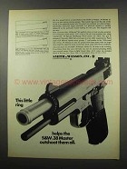1967 Smith & Wesson .38 Master Pistol Ad - Outshoot