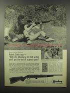 1967 Mossberg Model 352K Rifle Ad - Robert Stack