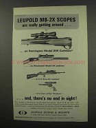 1967 Leupold M8-2X Scopes Ad - Really Getting Around