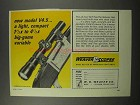 1967 Weaver Model V4.5 Scope Ad - Light, Compact