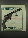 1967 Harrington & Richardson Sportsman Revolver Gun Ad