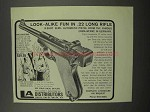 1967 Erma .22 L/R Semi-Automatic Pistol Ad - Look-Alike