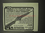 1967 Erma M22 Carbine Ad - Famous Factory West Germany