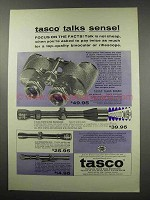 1966 Tasco Ad - Attache Model 118 Binoculars, Scopes