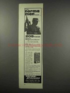 1966 Norma 205 Smokeless Powder Ad - The Norma Man