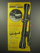 1966 Weaver K4 Scope Ad - Outstanding Brilliant Optics