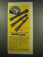 1966 Weaver K6, K4 and K3 Scopes Ad - Accurate Aiming