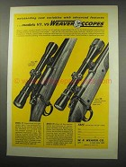1966 Weaver V7 and V9 Scopes Ad - Advanced