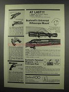 1966 Bushnell Universal Riflescope Mount Ad - At Last!