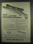 1966 Bausch & Lomb Scopes Ad - External Adjustments