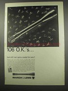 1966 Bausch & Lomb Scopes Ad - 106 O.K.'s