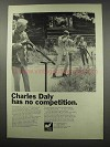 1966 Charles Daly Shotgun Ad - Has No Competition