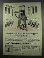 1966 Lyman Easy Shotshell Press Ad - Does More