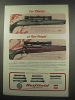 1966 Redfield Sportster Scopes Ad - Plinkin' Ker-Powin'