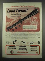 1966 Redfield Scopes Ad - Attention Precision Shooters