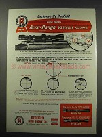 1966 Redfield Scopes Ad - Accu-Range Variable
