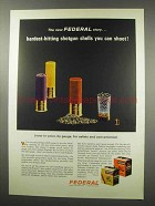 1966 Federal Shotgun Shells Ad - Hardest-Hitting