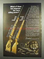 1966 Weatherby Custom Rifle and Deluxe Rifle Ad