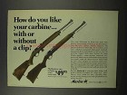1966 Marlin 989 M2 Carbine and 99 M1 Carbine Ad