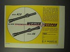 1966 Weaver A2.8 and A4 Scopes Ad - Featherweight