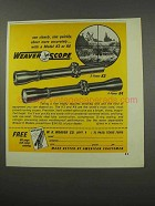 1966 Weaver K3 and K4 Scopes Ad - See Clearly