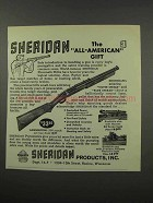 1966 Sheridan Pneumatic Rifle Ad - All-American Gift
