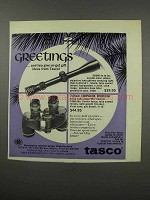 1966 Tasco Ad - #620 Scope and Companion Binocular