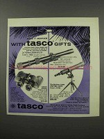 1966 Tasco Ad - #600 Scope, Attache Binoculars