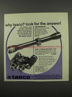 1966 Tasco Ad - #660 Rangerscope and Zoom Binoculars