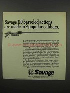 1966 Savage 110 Barreled Action Ad - 9 Popular Calibers