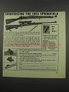 1966 Williams Gun Sight Ad - 1903 Springfield