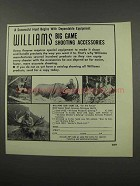 1966 Williams Gun Sight Ad - Big Game Accessories