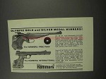 1966 Hammerli Free and International Pistols Ad