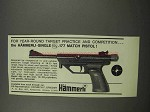 1966 Hammerli-Single .177 Match Pistol Ad