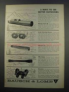 1965 Bausch & Lomb Ad - Balscope Zoom 60, Scopes