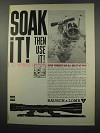 1965 Bausch & Lomb Scopes Ad - Soak It!