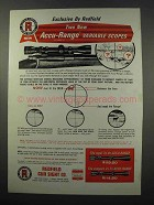 1965 Redfield Scopes Ad - Accu-Range Variable Scopes
