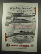 1965 Redfield Scopes Ad - Slim.. Trim.. Handsome!
