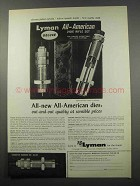 1965 Lyman All-American Dies Ad - Out-and-Out Quality