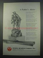 1965 Ruger Firearms Ad - A Father's Advice