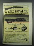 1965 Ruger 10/22 .22 Caliber R.F. Self-Loader Rifle Ad