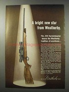 1965 Weatherby .224 Varmintmaster Rifle Ad - Star