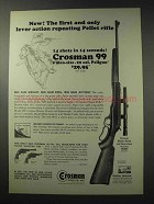 1965 Crosman 99 Rifle Ad - Lever Action Repeating