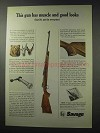 1965 Savage 110 Premier Grade Big Game Rifle Ad