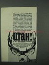 1965 Utah Tourism Ad - Plan a Great Hunt This Fall