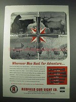 1964 Redfield Scopes Ad - Wherever Men Hunt