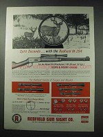1964 Redfield M-294 Scope and Mount Ad - Winchester 94