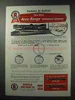 1964 Redfield Scopes Ad - Accu-Range Variable